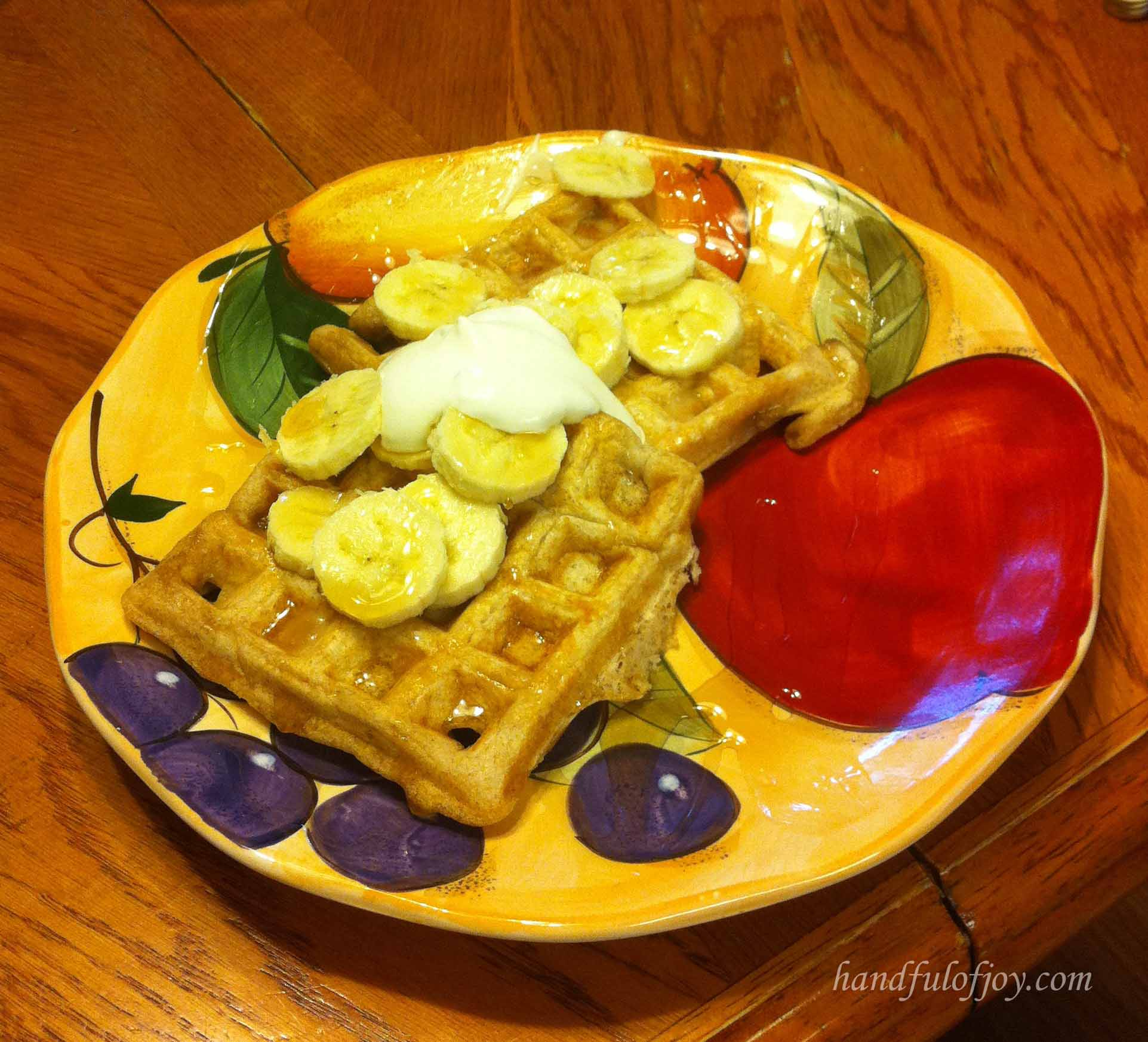 Waffles with Banana topping